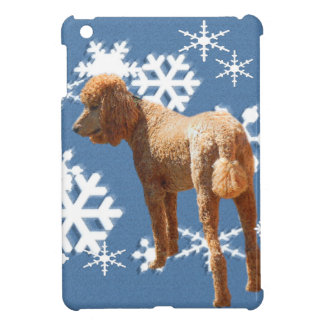 POODLE WITH SNOW FLAKES iPad MINI COVER