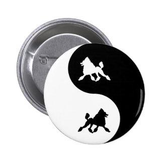 Poodle Yin Yang Pinback Button