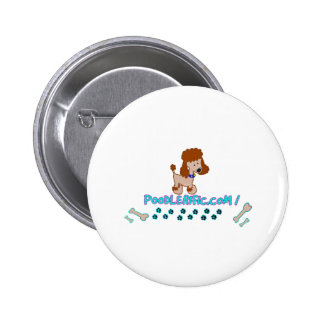 Poodlerific Doggy Goodness !! Pinback Button
