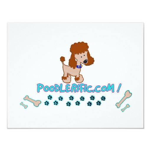 Poodlerific Doggy Goodness !! 4.25x5.5 Paper Invitation Card