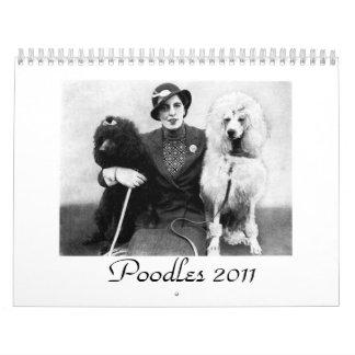 Poodles 2011 Calendar