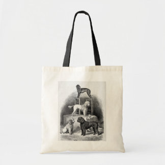 """Poodles and a Whippet"" Canvas Bags"