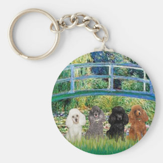 Poodles four - Bridge Keychains