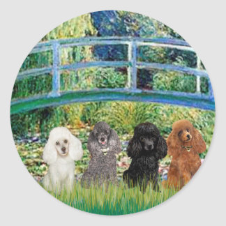 Poodles four - Bridge Round Sticker