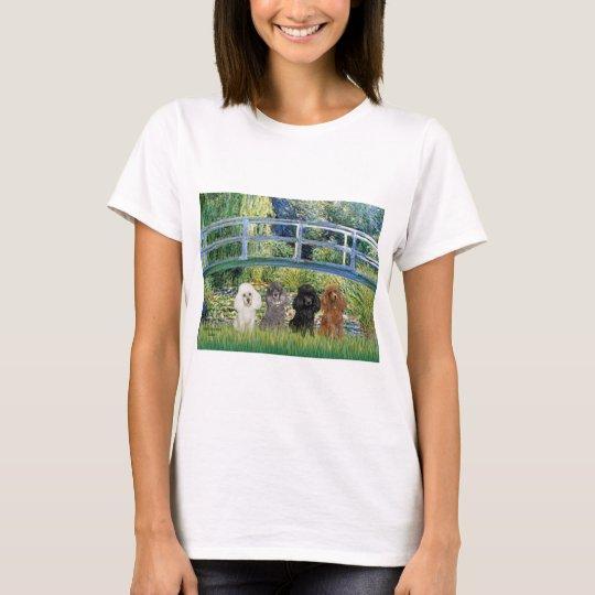Poodles (four) - Bridge T-Shirt