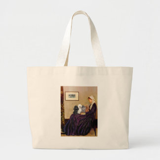 Poodles (four) - Whistler's Mother Large Tote Bag