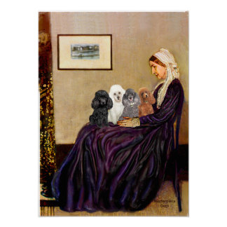 Poodles (four) - Whistlers Mother Posters