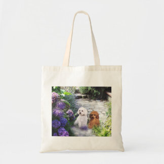 Poodles Hydrangea Tote Bag