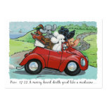 Poodles in Vintage Auto Scripture Business Cards