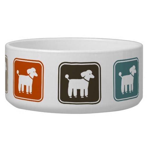 Poodles - Modern Design Doggie Dish Dog Bowl from Zazzle.