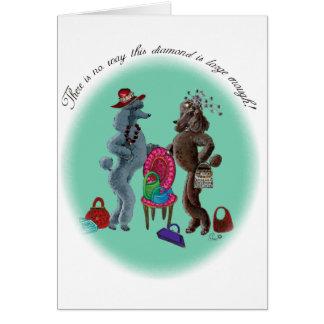 Poodles n Diamonds Greeting Card
