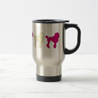 Poodles On Parade 15 Oz Stainless Steel Travel Mug