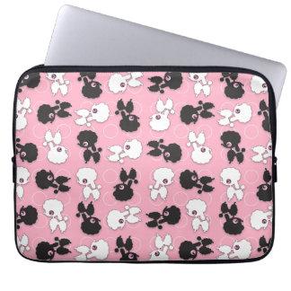 Poodles on Pink Sleeve Laptop Computer Sleeve