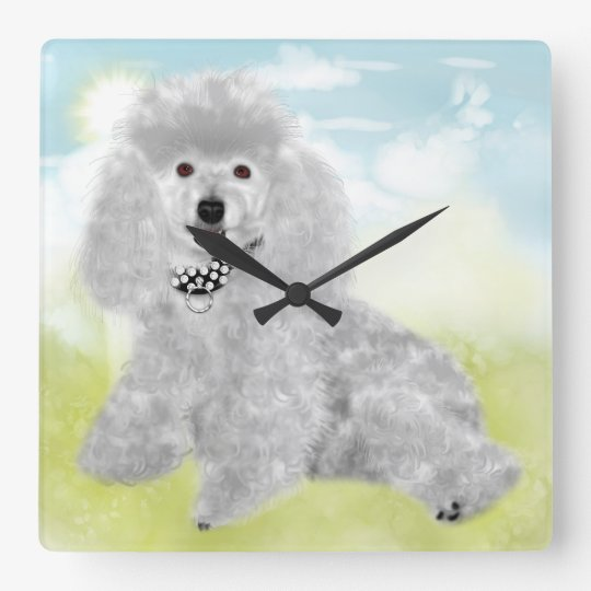 Poodles Rule Wall Clock