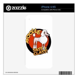 Poodles - Sass & Class Decals For The iPhone 4S