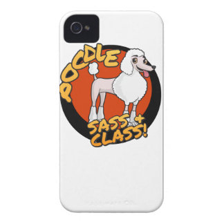 Poodles - Sass & Class iPhone 4 Cover