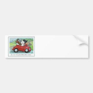 Poodles Vintage Car Scripture Bumper Sticker Car Bumper Sticker