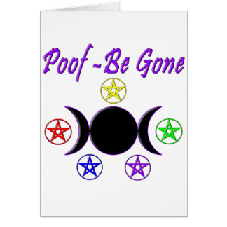Poof - Be Gone Card