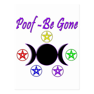 Poof - Be Gone Postcard
