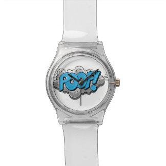 ¡Poof cómico del arte pop! Relojes