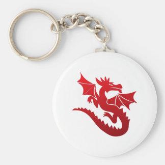 Poof el dragón mágico llavero redondo tipo pin