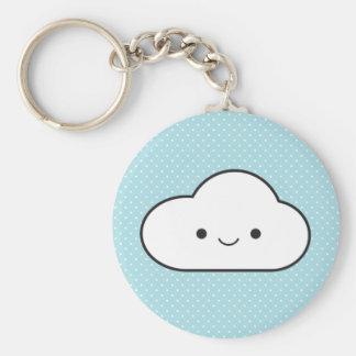 Poofy Cloud Keychain