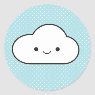 Poofy Cloud Classic Round Sticker