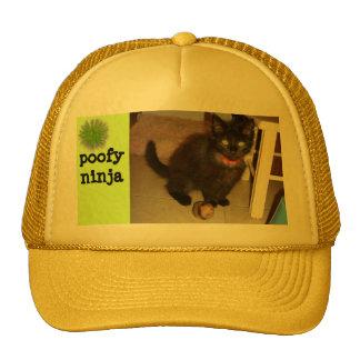 poofy ninja trucker hat