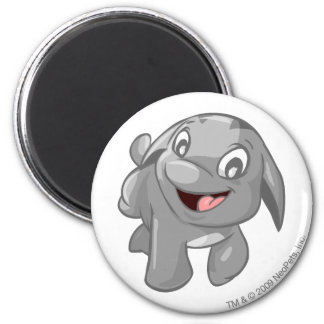 Poogle Silver 2 Inch Round Magnet