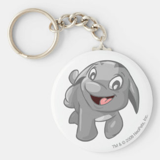 Poogle Silver Keychain