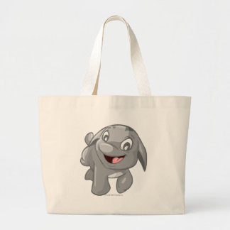 Poogle Silver Large Tote Bag