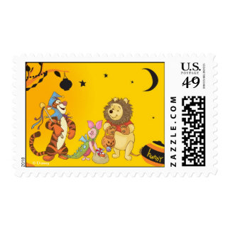 Pooh and Pals Halloween Postage Stamps