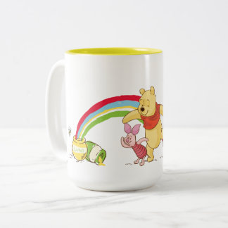 Pooh and Pals Under the Rainbow Two-Tone Coffee Mug