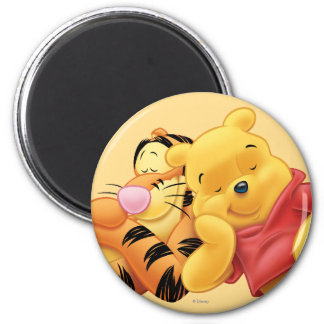 Pooh and Tigger 2 Inch Round Magnet