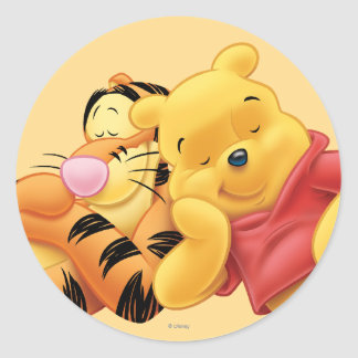 Pooh and Tigger Round Sticker