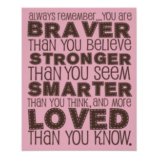 Pooh Bear Quote Poster