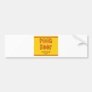 Pooh Beer Bumper Sticker