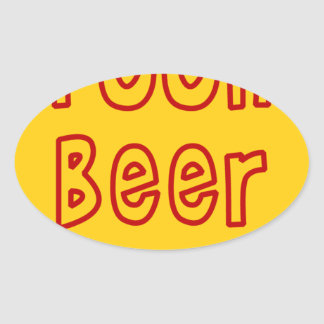 Pooh Beer Oval Sticker