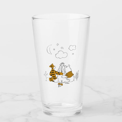 Pooh, Eeyore & Tigger | Looking up at the Sky Glass