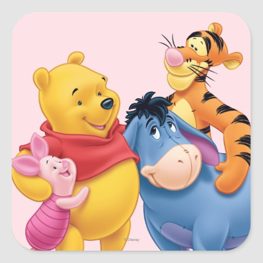 Pooh & Friends 1 Square Sticker