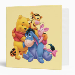 Avery Signature 1' Binder with Winnie the Pooh, Tigger, Eeyore and Piglet Group Photo design