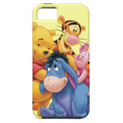 Case-Mate Vibe iPhone 5 Case with Winnie the Pooh, Tigger, Eeyore and Piglet Group Photo design