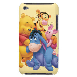 Winnie the Pooh, Tigger, Eeyore and Piglet Group Photo Case-Mate iPod Touch Barely There Case