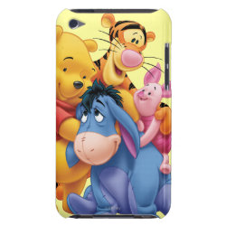 Case-Mate iPod Touch Barely There Case with Winnie the Pooh, Tigger, Eeyore and Piglet Group Photo design