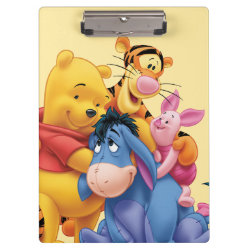 Winnie the Pooh, Tigger, Eeyore and Piglet Group Photo Clipboard