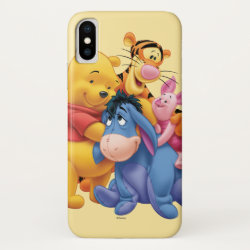 Case-Mate Barely There iPhone X Case with Winnie the Pooh, Tigger, Eeyore and Piglet Group Photo design