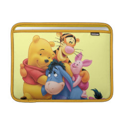 Winnie the Pooh, Tigger, Eeyore and Piglet Group Photo Macbook Air Sleeve
