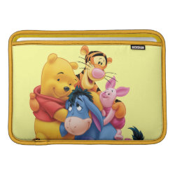 Macbook Air Sleeve with Winnie the Pooh, Tigger, Eeyore and Piglet Group Photo design
