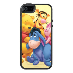 OtterBox Symmetry iPhone SE/5/5s Case with Winnie the Pooh, Tigger, Eeyore and Piglet Group Photo design
