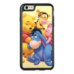 OtterBox Symmetry iPhone 6/6s Plus Case with Winnie the Pooh, Tigger, Eeyore and Piglet Group Photo design